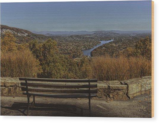 Overlooking Lake Lure Wood Print