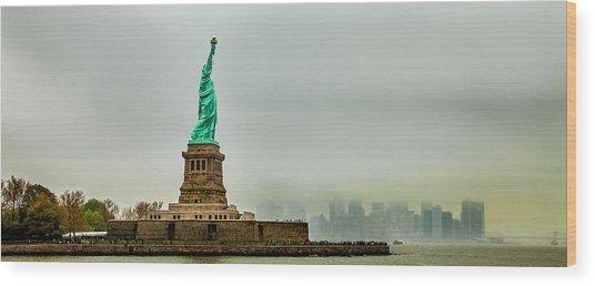 Overlooking Liberty Wood Print