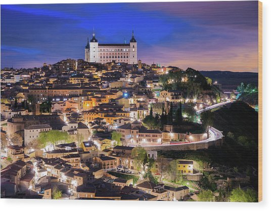 Overview Of The City Of Toledo In Spain Wood Print by Daniel Viñé Garcia