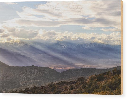 Owens Valley Sunset Wood Print