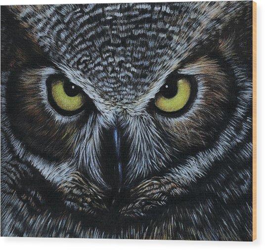 Owl Wood Print by Natasha Denger