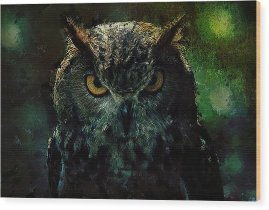 Owlish Tendencies Wood Print