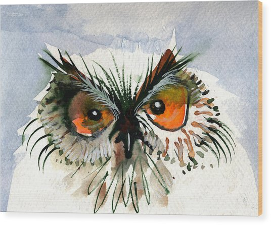 Owlitude Wood Print