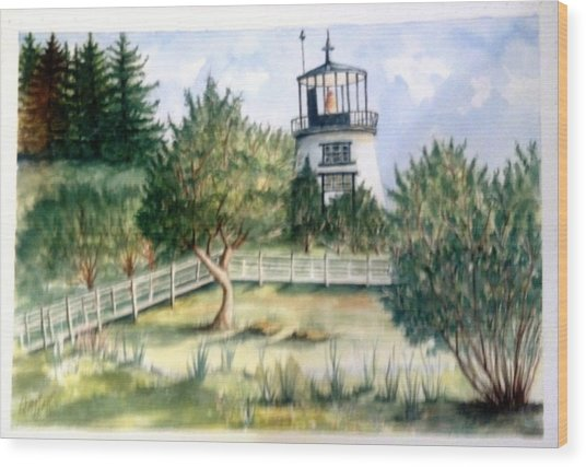 Owls Head Maine Lighthouse Wood Print