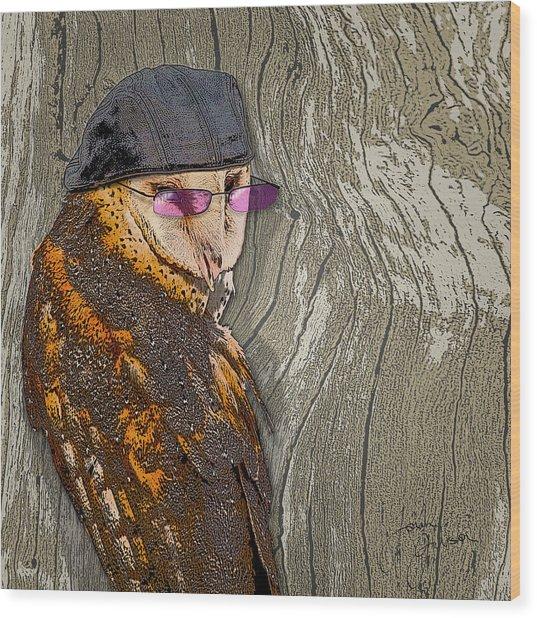 Owltitude Wood Print