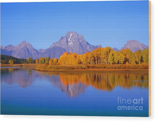 Oxbow Bend In Grand Teton Wood Print