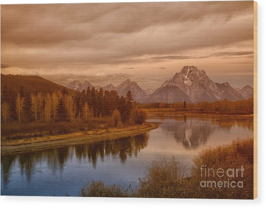 Oxbow Morning Wood Print