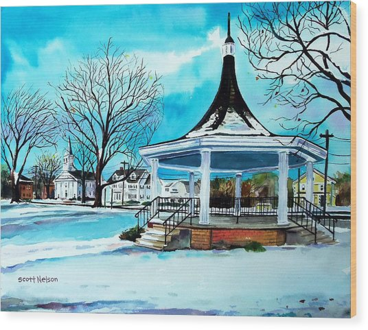 Oxford Bandstand Wood Print by Scott Nelson