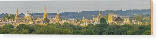 Oxford University Panorama Wood Print
