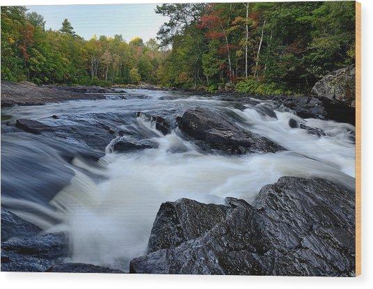 Oxtongue River Rapids Panoramic Wood Print