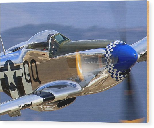 Grim Reaper P51 Mustang At Salinas Air Show Wood Print