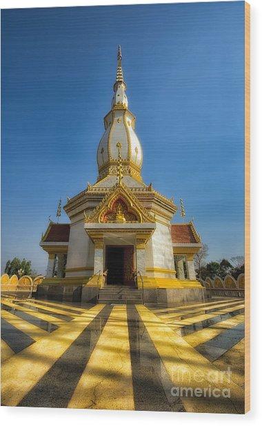 Pa Dong Wai Temple  Wood Print