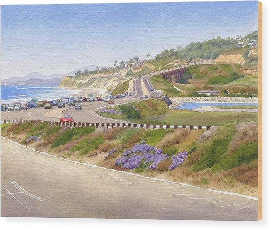 Pacific Coast Hwy Del Mar Wood Print