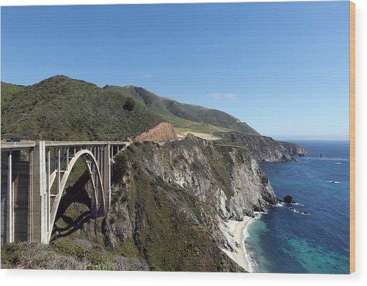 Pacific Coast Scenic Highway Bixby Bridge Wood Print
