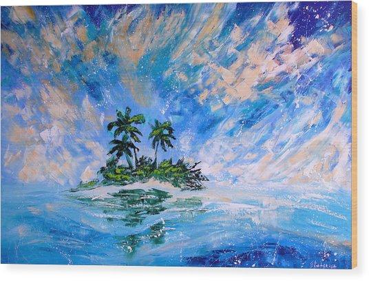 Pacific Island Wood Print