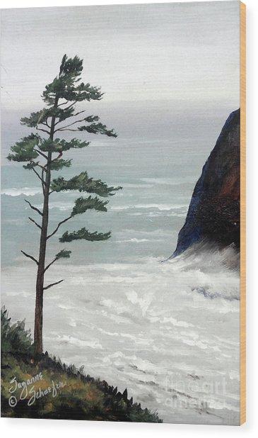 Pacific Northwest Soft Ocean Breezes Wood Print by Suzanne Schaefer