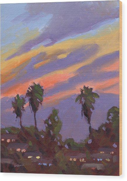 Pacific Sunset 1 Wood Print