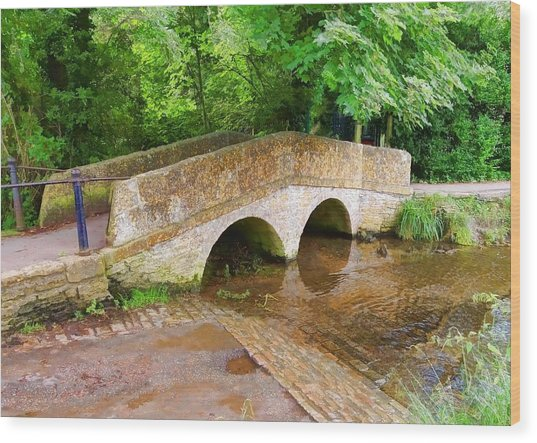 Pack Horse Bridge Wood Print