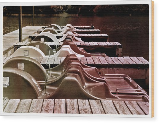Paddle Boating Wood Print