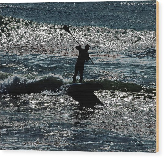 Paddleboard Dreams Wood Print