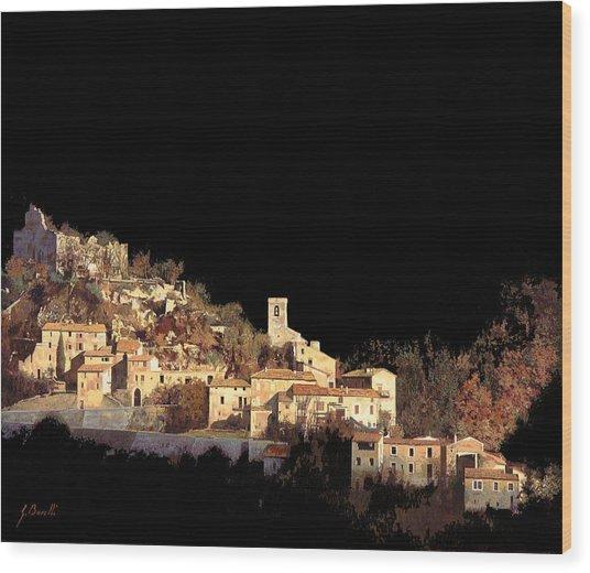 Paesaggio Scuro Wood Print