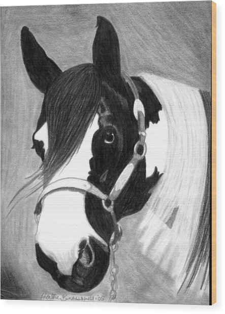 Paint Horse Wood Print by Olde Time  Mercantile