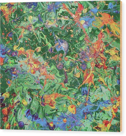 Paint Number Twenty Three Wood Print