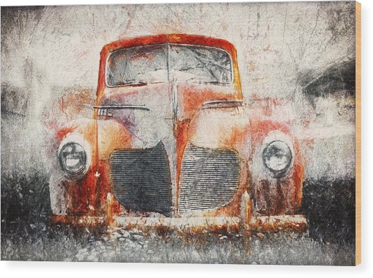 Painted 1940 Desoto Deluxe Wood Print