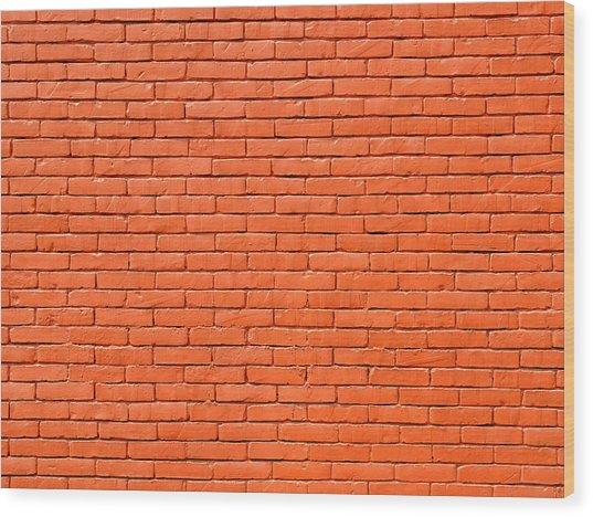Painted Brick Wall Wood Print