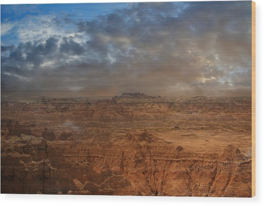 Wood Print featuring the photograph Painted By Nature by Judy Hall-Folde