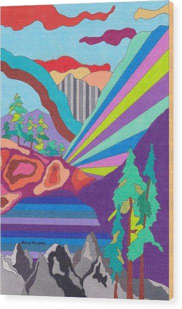Painted Canyon Wood Print