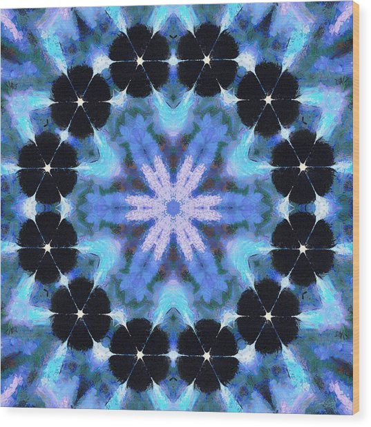 Wood Print featuring the painting Painted Cymatics 108.00hz by Derek Gedney