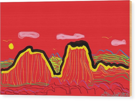 Painted Desert #2 Wood Print