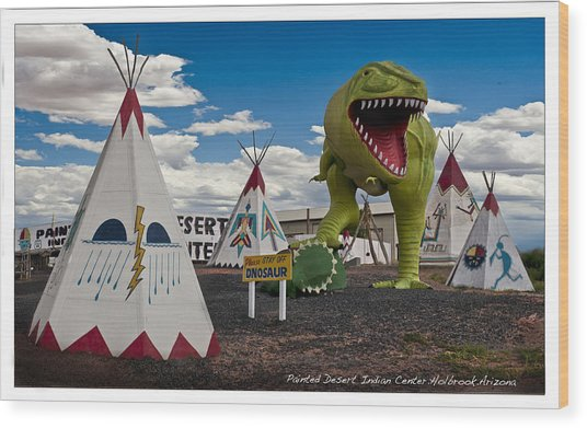 Painted Desert Indian Center  Wood Print