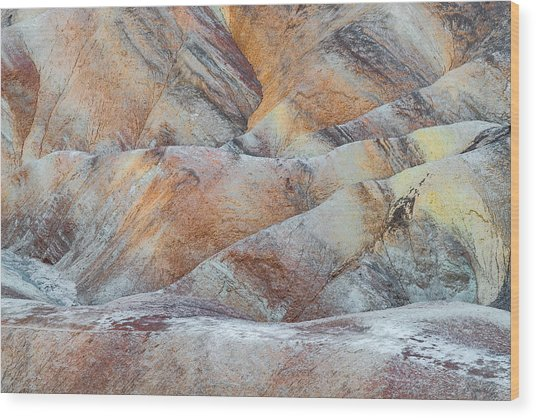 Painted Hills In Death Valley Wood Print