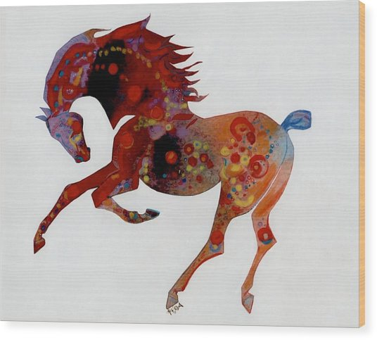 Painted Horse A Wood Print