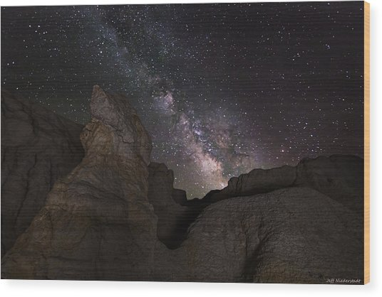 Painted Night Wood Print