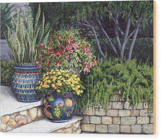 Painted Pots Wood Print