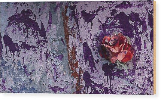 Painted Rose   #5695 Wood Print