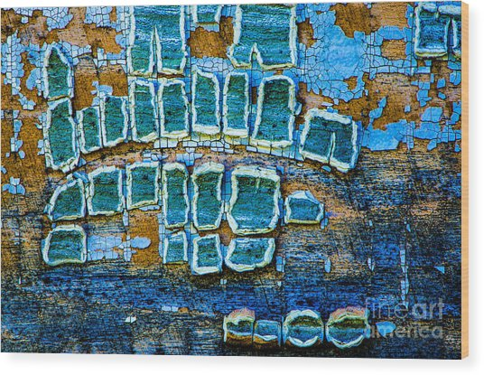 Painted Windows Number 1 Wood Print
