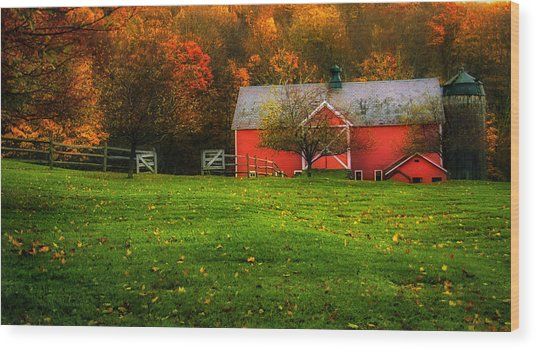Autumn Dreams - Dorset Vermont Wood Print