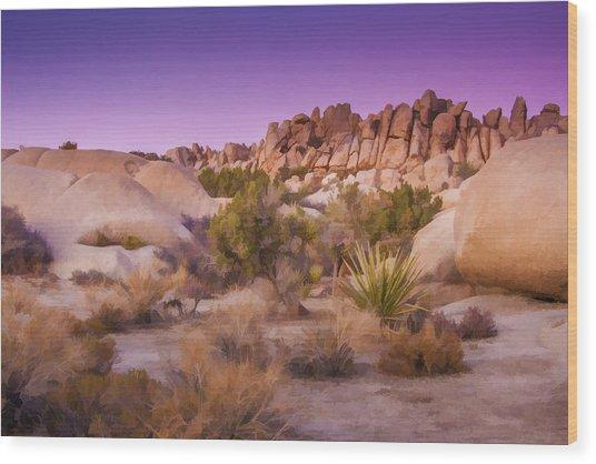 Painterly Desert Wood Print