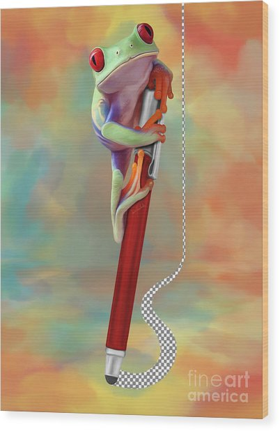 Painting Love Wood Print by Ivan Pawluk