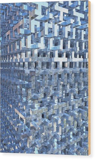 Paisley Block Array Wood Print