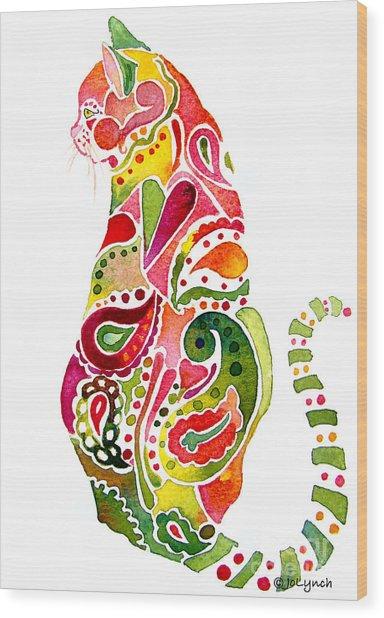 Paisley Cat 2 Wood Print