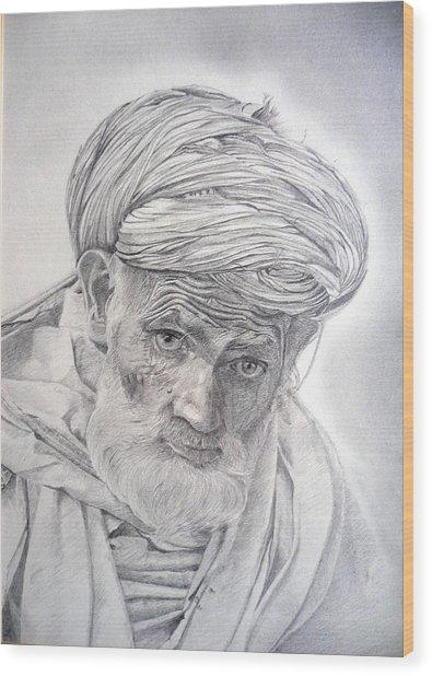 Pakistan Headman Wood Print
