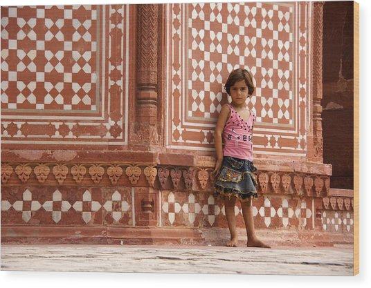 Pakistani Girl Wood Print