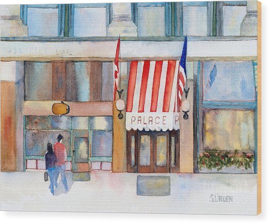 Palace Hotel Wood Print by Sandy Linden
