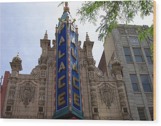 Palace Theater Wood Print by Pamela Schreckengost