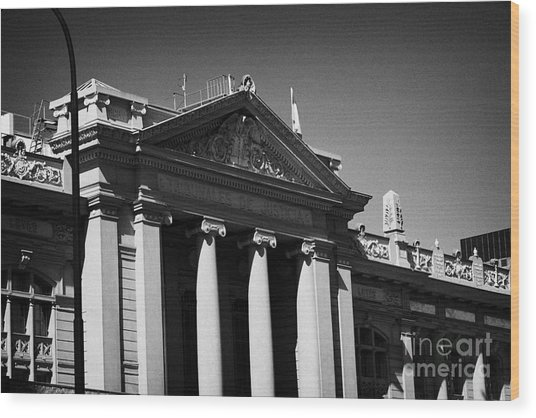 palacio de los tribunales de justica courts of justice palace Santiago Chile Wood Print by Joe Fox